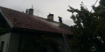 Mytí čištění střech fasád a zamkových dlažeb