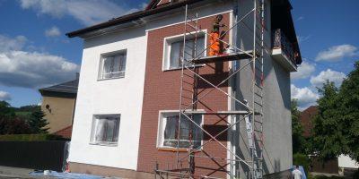Nátěr renovace staré fasády