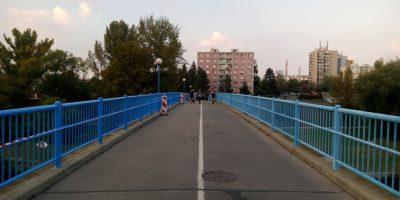 Nátěr zábradlí lávka pro pěší a cyklisty Kralupy nad Vltavou