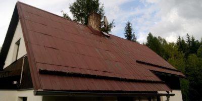 Před nátěrem střechy